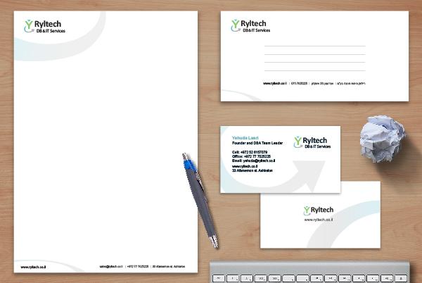 עיצוב לוגו וניירת לחברת Ryltech